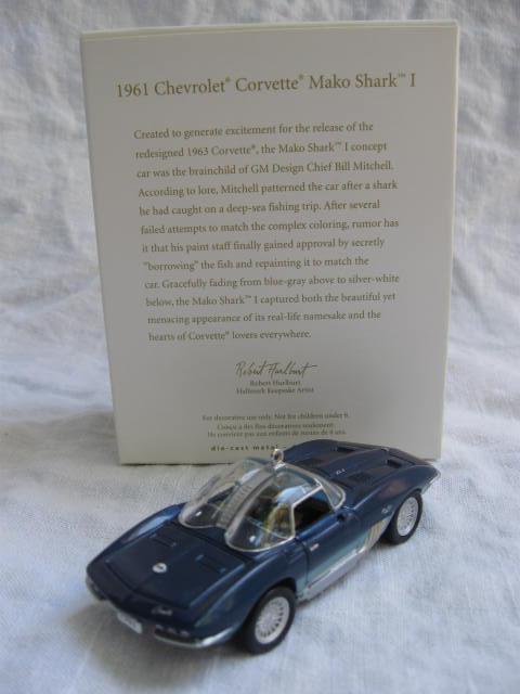 Hallmark 2007  1961 Chevrolet Corvette Mako shark I Christmas Tree Ornament