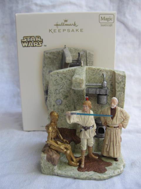 Hallmark 2007  A Jedi Legacy Revealed Star Wars A New Hope Magic Light & Sound Christmas Tree Ornament
