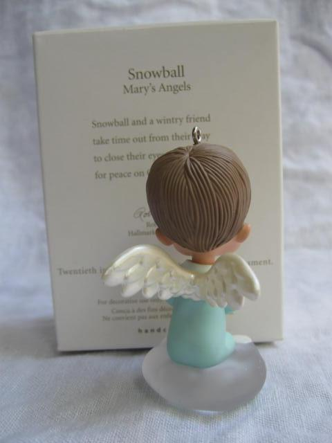 Hallmark 2007 Mary's Angels Snowball  20th In Series Christmas Tree Ornament