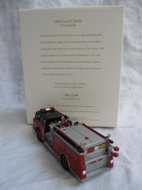 Hallmark 2007 1988 Ford C8000 5th In Fire Brigade Series Fire Engine Christmas Tree Ornament