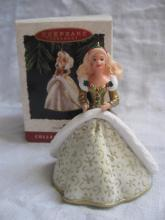 Hallmark 1994 Holiday Barbie #2 2nd In Series Christmas Tree Ornaments