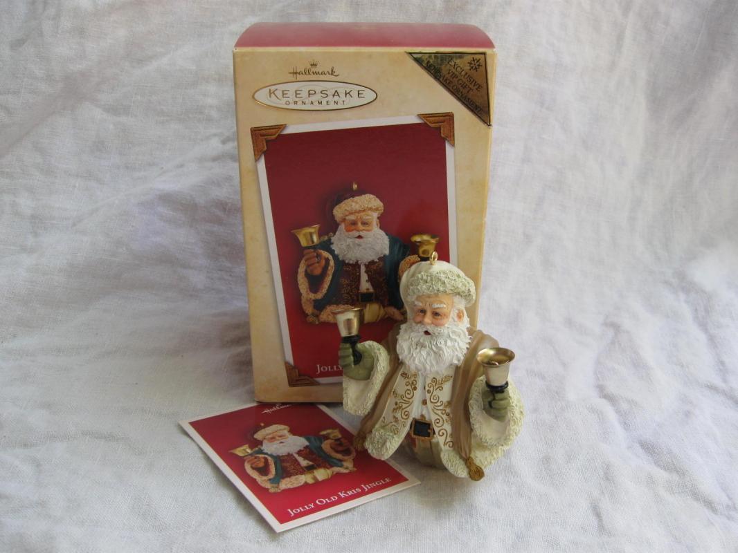 Hallmark 2004 Jolly Old Kris Kringle Repaint Santa Bell Ornament