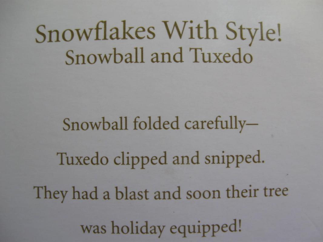 Hallmark 2010 Snowflakes With Style!  Snowball & Tuxedo Christmas Tree Ornament