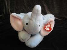 Ty Squirt The Elephant  Pillow Pal Plush