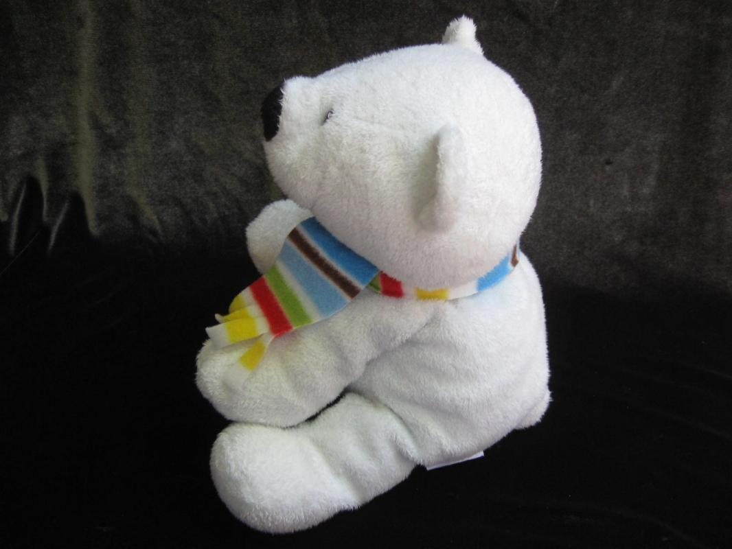Ty Pluffie Alps White Artic Polar Bear Cub Barnes & Noble Exclusieve Plush