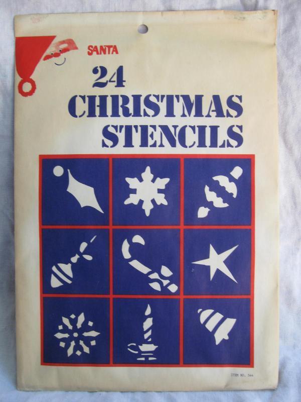 24 Vintage Window Christmas Stencils New In Sealed Envelope
