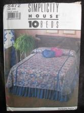New Vintage Simplicity House 8472 10 Different Bedcovers  Sewing Instructions Cards