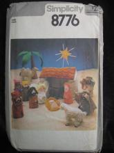 New Vintage Simplicity 8776 Christmas Nativity & Creche Manger Sewing Pattern