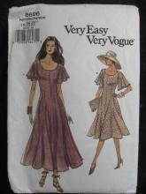 New Very Easy Very Vogue 8696 Loose Fitting Dress Misses'  Sewing Pattern Size  18 20 22 Dated  2001