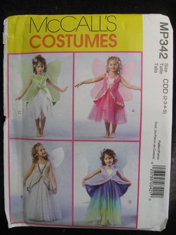 New McCall's MP342 Children's Fairy Halloween Costumes Sewing Pattern  Size 2, 3, 4, 5  MP 342