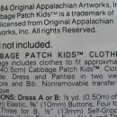 Butterick 331 & B5304 Cabbage Patch Kids Wardrobe & Bath Accessories Sewing Patterns Lot Of 2
