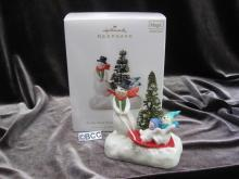 Hallmark 2008 It's The Most Wonderful Time Of The Year  Snowman Magic Music Christmas Tree Ornament