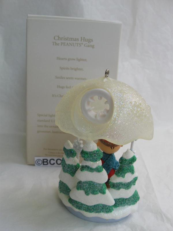 Hallmark 2008 Christmas Hugs Charlie Brown & Snoopy Limited Quantity Club Exclusive Christmas Tree Ornament