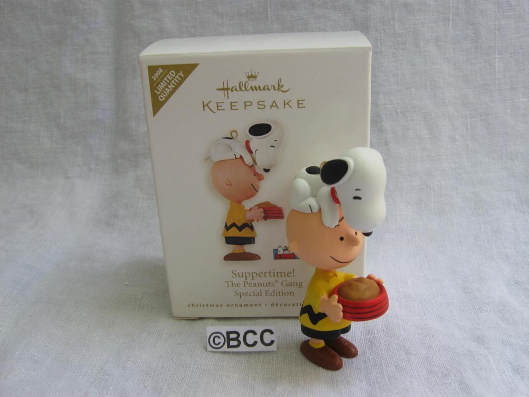 Hallmark 2008 SUPPERTIME Snoopy & Charlie Brown Special Limited Quantity Christmas Tree Ornament