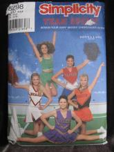 New Simplicity 8298 Cheerleader Outfit Halloween Costume Sewing Pattern Misses' 4 6 8