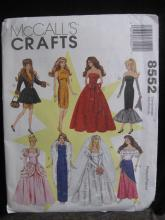 New Simplicity 8552  Barbie Doll Outfits Sewing Pattern