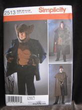New Simplicity 2513 Wolfman Jykll Hyde Halloween Costume Sewing Pattern Men's XS, S  M