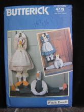 New Butterick 4779 Geese Cow Door Draft Stoppers Sewing Pattern