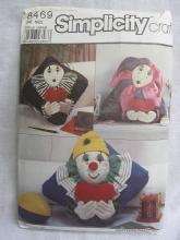 Simplicity 8469 Clown or Mine Pillows In 3 Styles Sewing Pattern