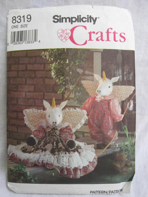 Vintage Simplicity  8319  Boy & Girl Unicorn & Clothes Sewing Pattern