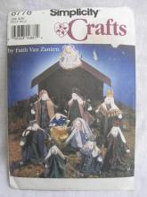 Vintage Simplicity  1994 Bunny Nativity Sewing Pattern By Faith Van Zanten