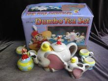 Disney Dumbo The Flying Elephant 9 Piece Teapot Tea Set  New In Box