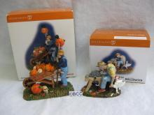 Department 56 Halloween An Ax To Grind & Haunted Harvest Lot Of 2 Figurines