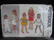 New Butterick 6567 Children's Dress Top Jumpsuit Shorts & Pants Sewing Pattern Size 4