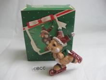Hallmark 1983 Skating Rabbit Christmas Ornament