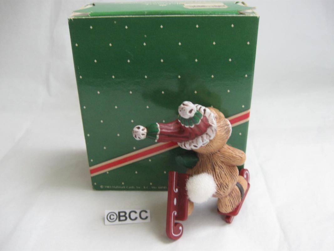 Hallmark 1983 Skating Rabbit Christmas Ornament