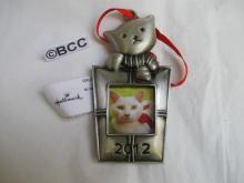 Hallmark 2012 Kitty Cat Photo Holder Christmas Ornament