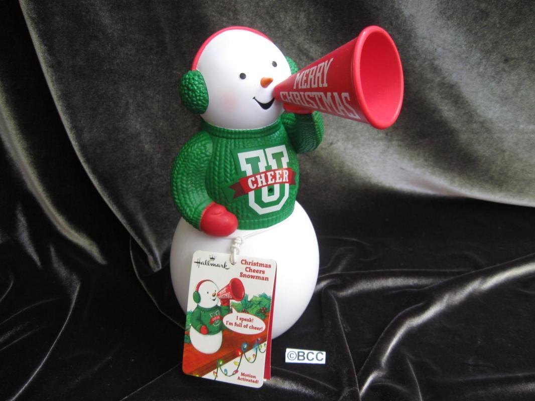 Hallmark 2012 Christmas Cheers Snowman Motion Activated  Singing Cheerleader  Snowman