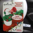 Hallmark 2012 Christmas Cheers Snowman Motion Activated  Singing Cheerleader  Snowman