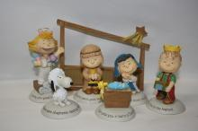 Hallmark 2012 Peanuts Gallery Nativity Collection Set of 7 Figurines