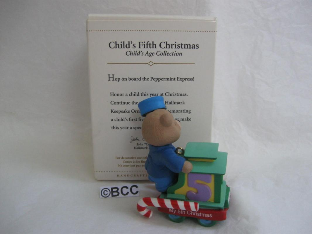 Hallmark  2006 Child's Fifth Christmas  Ornament