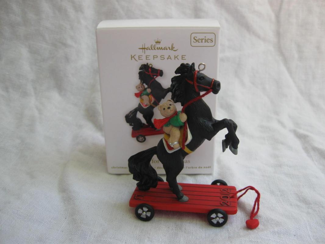 Hallmark 2012 A Pony For Christmas 15th In Series Christmas Ornament