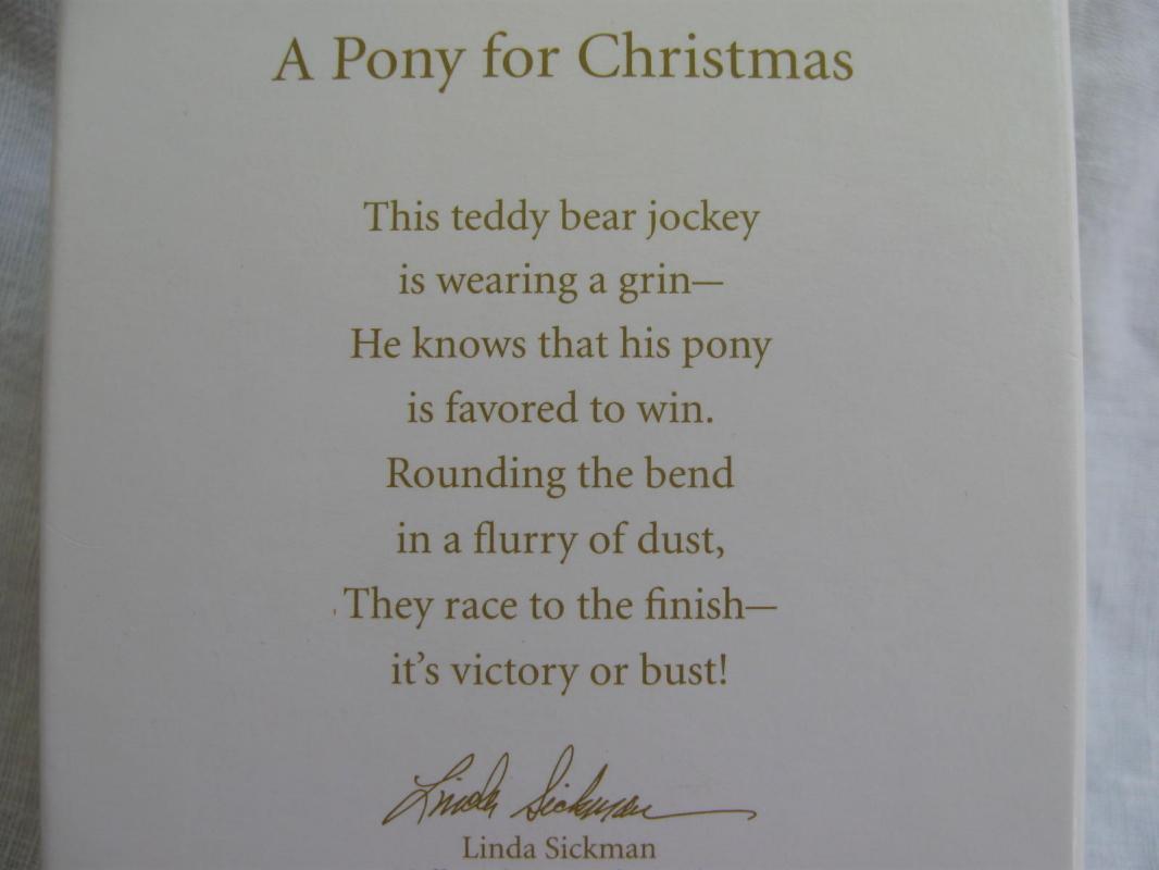 Hallmark 2010 A Pony For Christmas 13th In Series Christmas Ornament