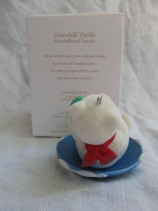 Hallmark 2012 Downhill Thrills Snowball & Tuxedo #12 In Series Christmas Ornaments