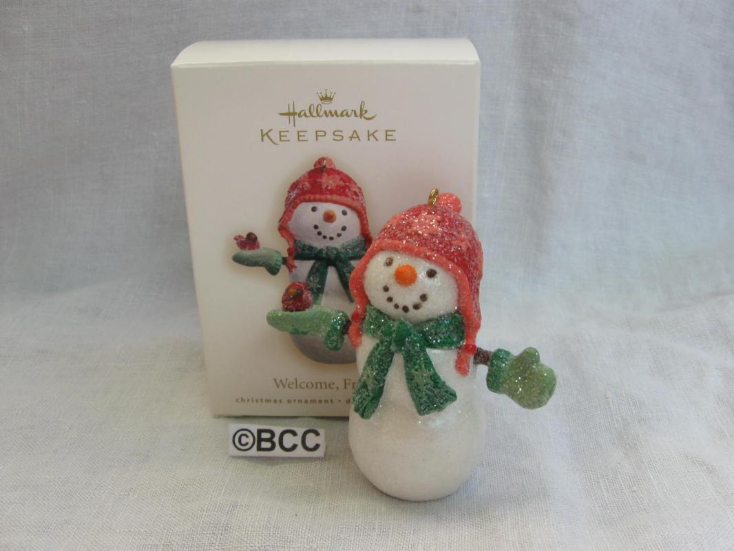 Hallmark 2011 Welcome Friends Snowman Ornament