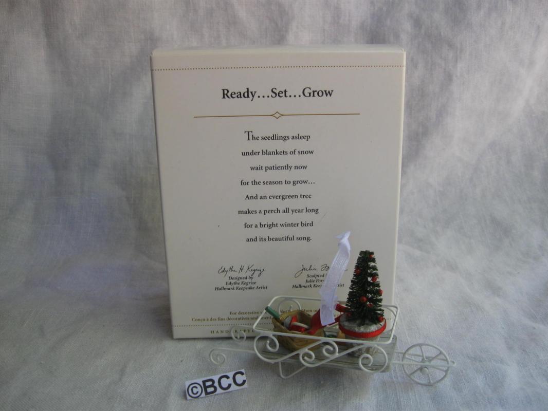 Hallmark 2006  Ready Set Grow Garden Gardener Gardeining Christmas Ornament  Winter Garden Collection