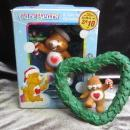 2 Tenderheart Care Bear Christmas Ornaments 1is American Greetings 2004