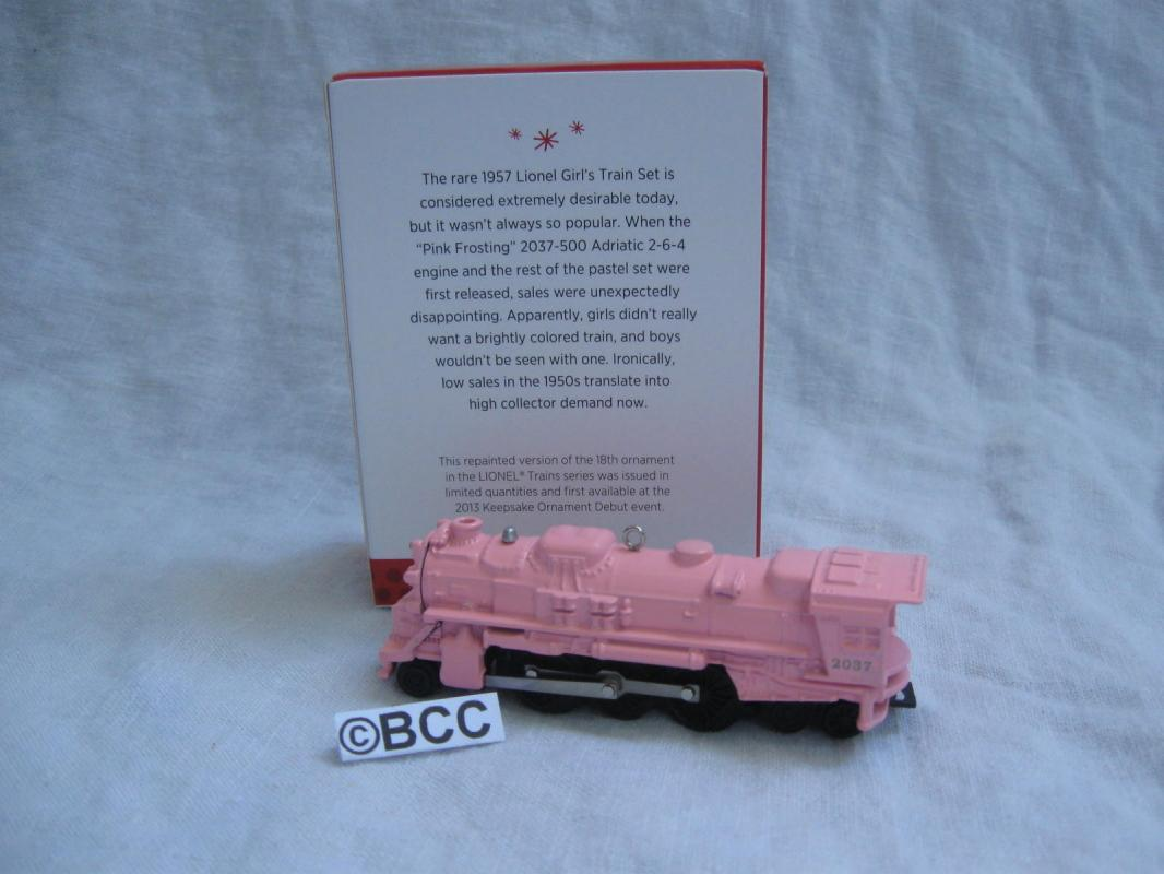 Hallmark 2013 Lionel Pink 2037 Steam Locomotive Limited Quantity Repaint Ornament