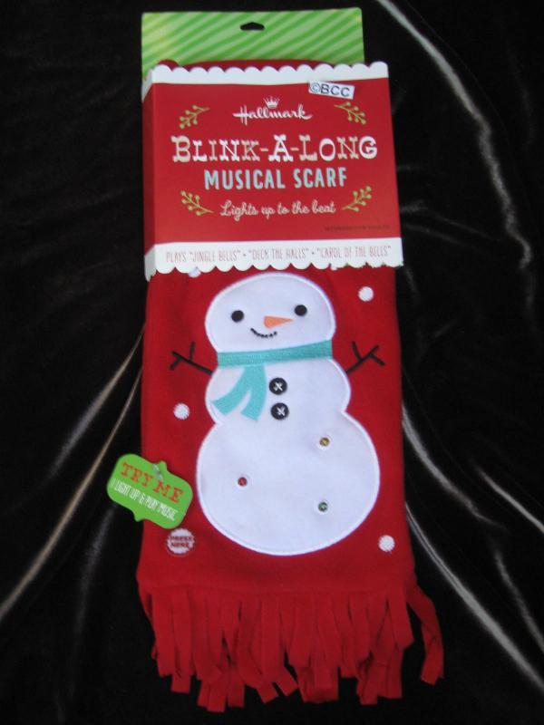 Hallmark 2013 Blink A Long Flashing Lights Musical Scarf Ugly Christmas Sweater Accessory