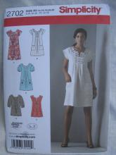 New Simplicity 2702 Misses' Dress or Tunic Sewing Pattern Size R5 14 - 22
