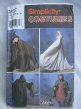New Simplicity 9887 The Lord Of The Rings Cape Tunic Wizard Grim Reaper Maiden Hobbit Renaissance Mens Misses Halloween Costume Sewing Pattern XS  -  XL