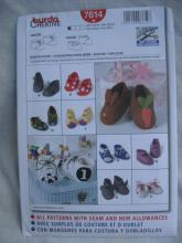 New Burda Creative Decorative Baby Shoes Booties In 10 Styles Sewing Pattern