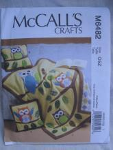 New McCall's Crafts M6482 6482 Owl Pillow & Quilt Sewing Pattern