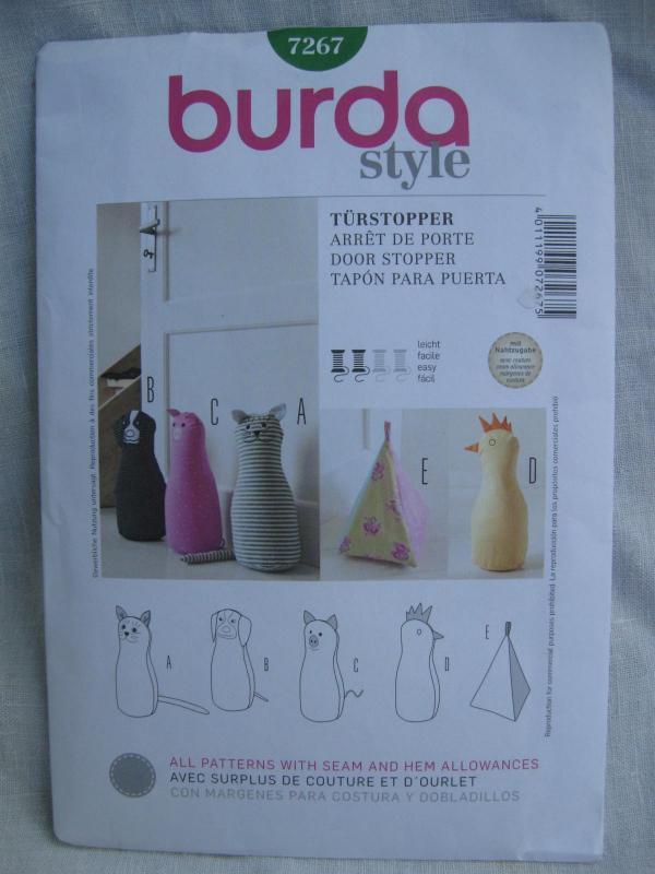 Burda Style Craft Door Stops Stoppers Cat Dog Pig Hen Pyramid Sewing Pattern