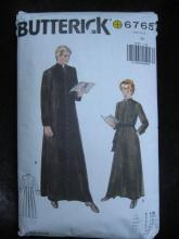 Butterick 6765 Men's Cassock In Two Styles Religious Robe  Robe Sewing Pattern As Is