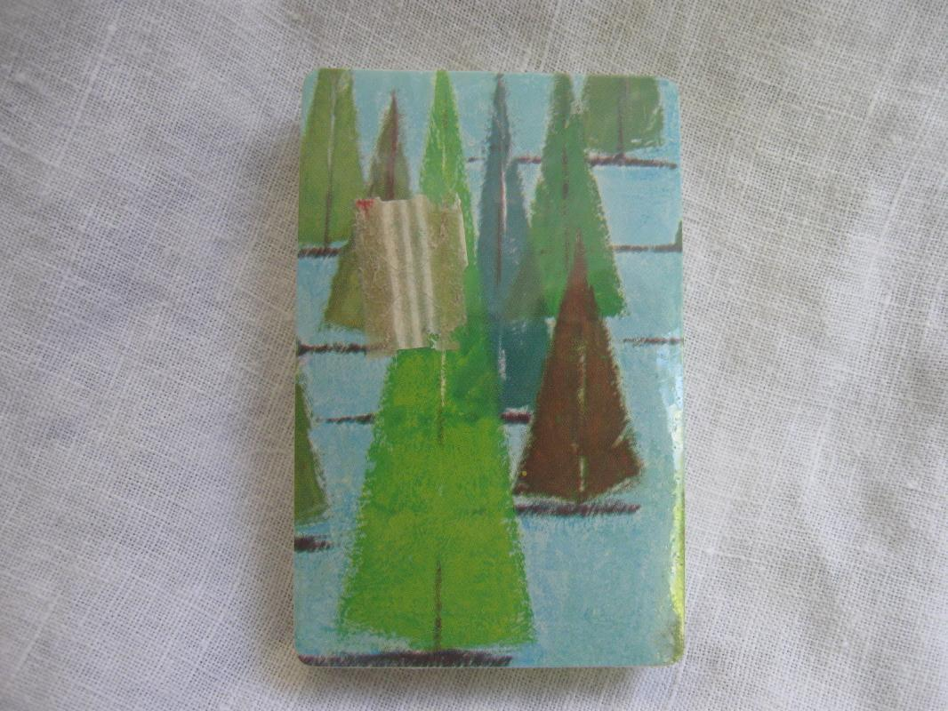 New Sealed Deck Abstract Modern Trees Playing Cards